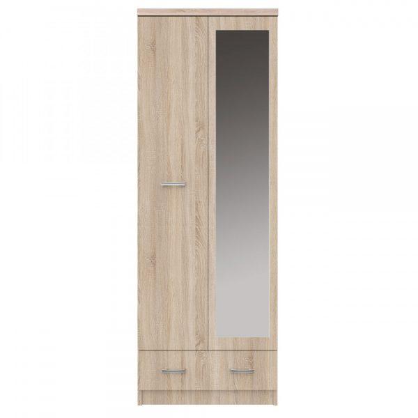 Ντουλάπα Δίφυλλη Top Mix 60x33x183cm Σονόμα με Καθρέπτη TO-TOPSFZ2D1S60