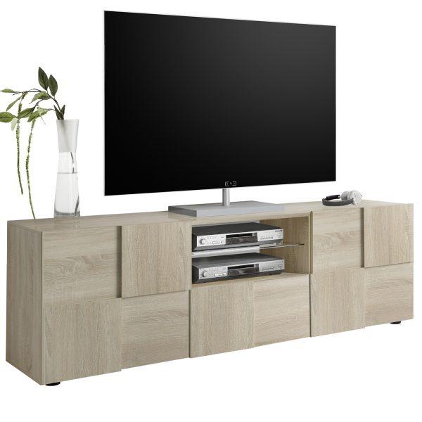 QUATTRO TV STAND 180x43x57Ycm SAMOA OAK