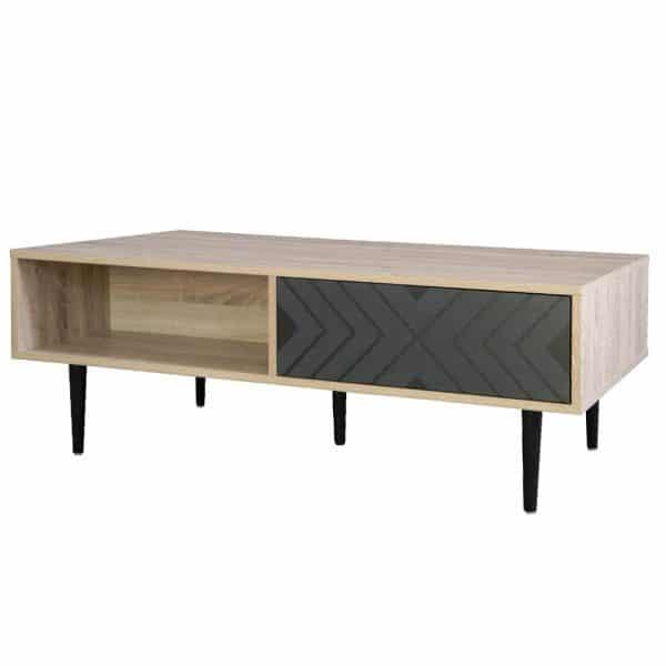 ARROW COFFEE TABLE 110x60x40Ycm SONOMA/ΜΑΥΡΟ