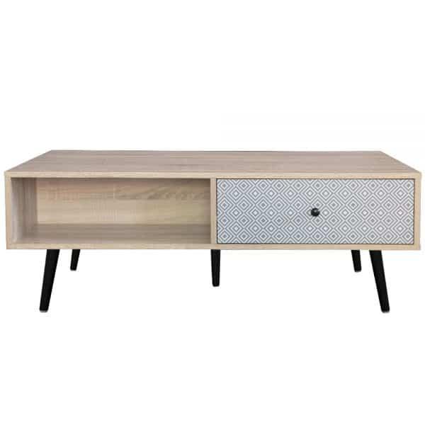 EZRA COFFEE TABLE 110x60x40Ycm SONOMA/ΛΕΥΚΟ/ΓΚΡΙ