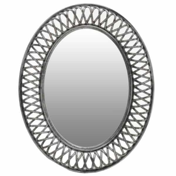 Inart Καθρέπτης Τοίχου  Γκρί    Γυαλί,Πολυρεσίνη 61x5x76 cm