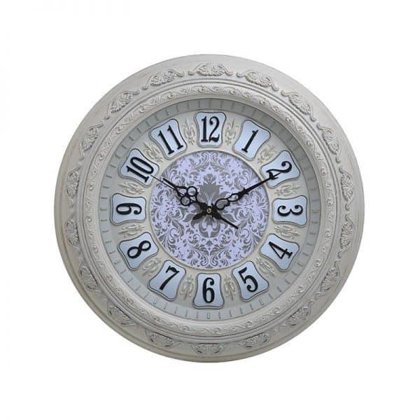 Inart Ρολόι Τοίχου Φυσικό μπεζ,Λευκό-Ελεφαντόδοντο    Πλαστικό