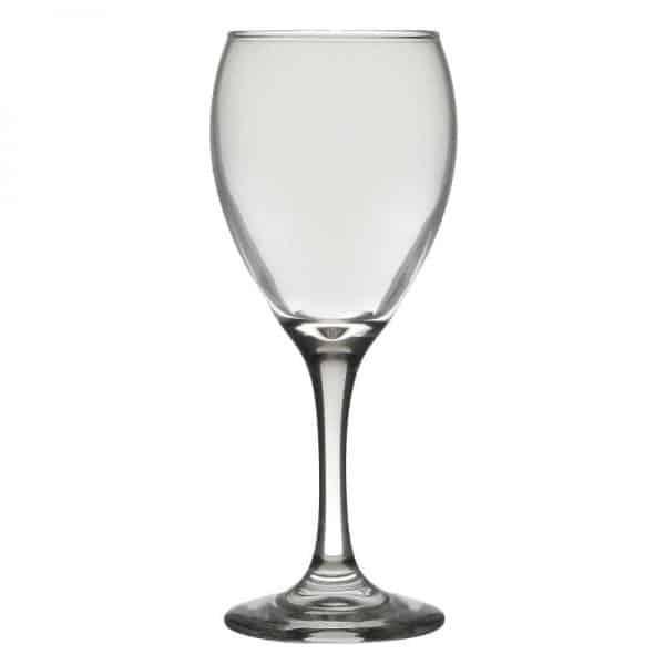 Inart Ποτήρι Κρασιού Σετ Των 24 Διαφανές    Γυαλί 6.5x6.5x18 cm