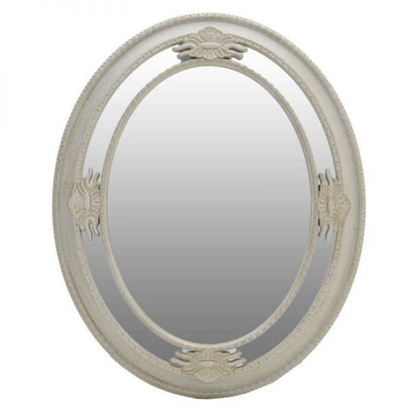 Inart Καθρέπτης Τοίχου  Χρυσό,Λευκό-Ελεφαντόδοντο    Γυαλί,Πολυρεσίνη 65x6x85 cm