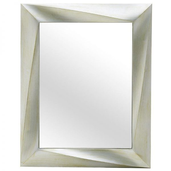 Inart Καθρέπτης Τοίχου Λευκό-Ελεφαντόδοντο    Πλαστικό 60x4x75 cm