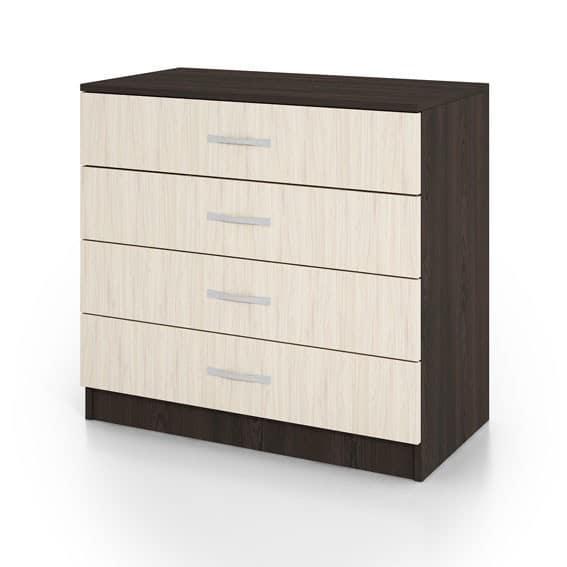Συρταριέρα CITY3002 Wenge-Sonoma 80x43,5x76cm