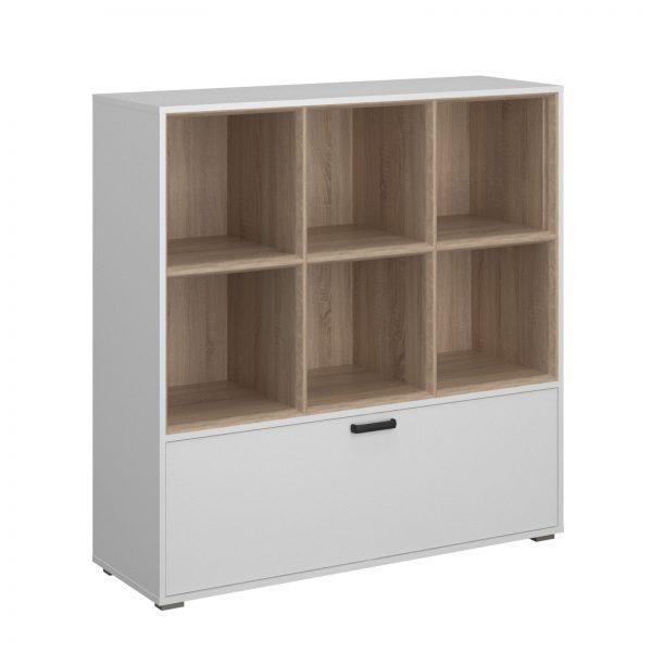 Βιβλιοθήκη Arte Λευκό-Σονόμα 120x40x122cm TO-ARTE1D
