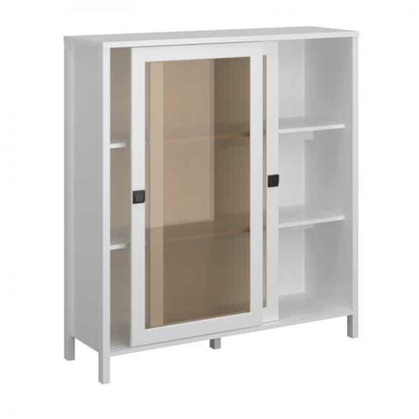 Βιτρίνα Marocco Δίφυλλη Λευκό 120x37x130.5cm TO-MARWIT2WHITE