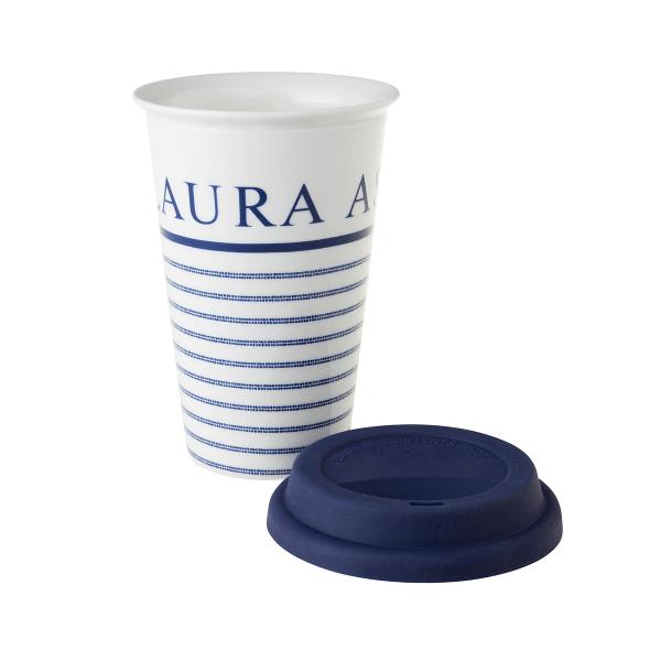 Ισοθερμική Κούπα Πορσελάνης Laura Ashley Candy Stripe 370ml