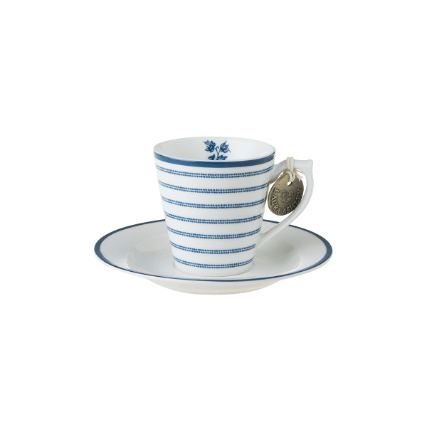 Φλιτζάνι Espresso Πορσελάνης Laura Ashley Candy Stripe 90ml