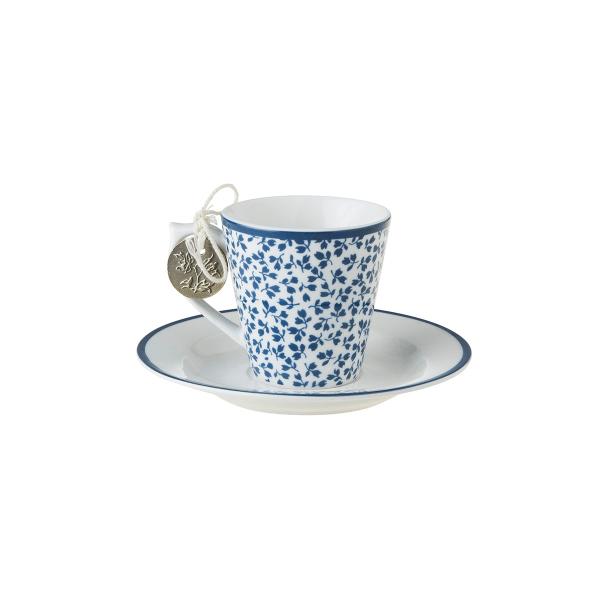 Φλιτζάνι Espresso Πορσελάνης Laura Ashley Floris 90ml