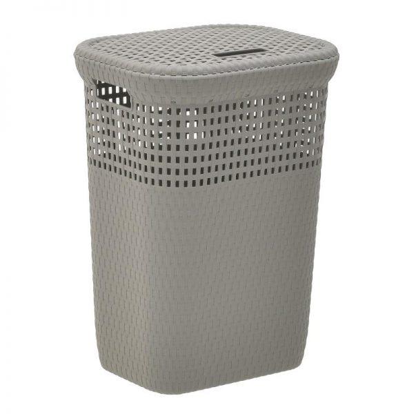 Inart Καλάθι Απλύτων Φυσικό μπεζ    Πλαστικό 42x33x57 cm