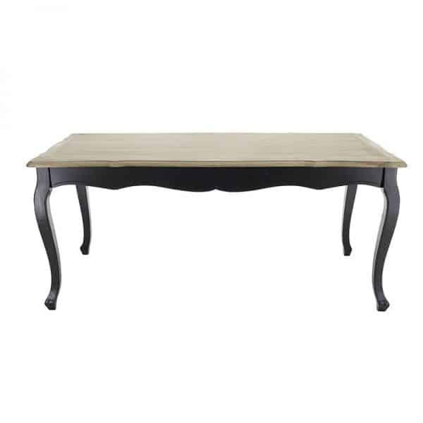 Inart  Μαύρο,Φυσικό μπεζ  Πεύκο,Fir 180x90x78 cm