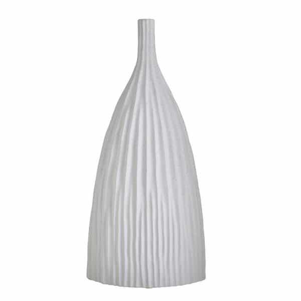 Inart Βάζο Λευκό-Ελεφαντόδοντο    Κεραμικό 24x14x52 cm