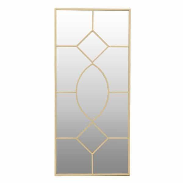 Inart Καθρέπτης Τοίχου Χρυσό Σίδερο   Γυαλί 60x4x133 cm