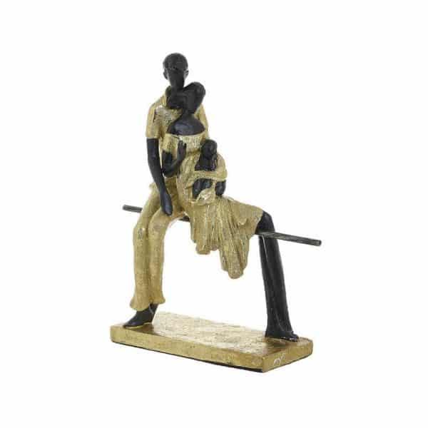 Inart Επιτραπέζιο Διακοσμητικό Χρυσό,Μαύρο    Πολυρεσίνη 22x10x27 cm