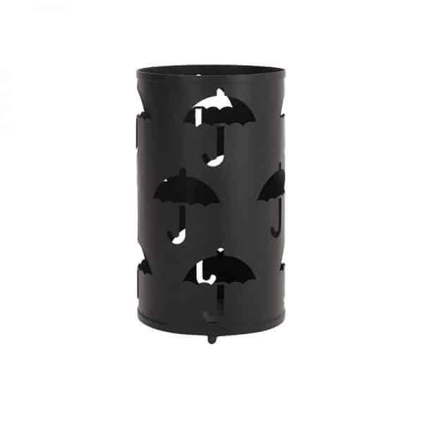 Inart Ομπρελοθήκη Μεταλλική Μαύρο Σίδερο 24x24x43 cm