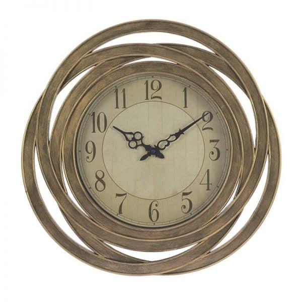 Inart Ρολόι Τοίχου  Χρυσό    Πλαστικό 51x6x51 cm