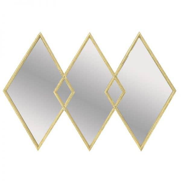 Inart Καθρέπτης Τοίχου Χρυσό Σίδερο   Γυαλί 115x4x78 cm