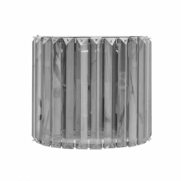 Inart Απλίκα Ασήμι,Διαφανές    Γυαλί 21x10x20 cm