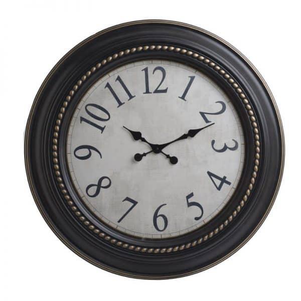 Inart Ρολόι Τοίχου  Καφέ,Φυσικό μπεζ    Πλαστικό 76x6x76 cm