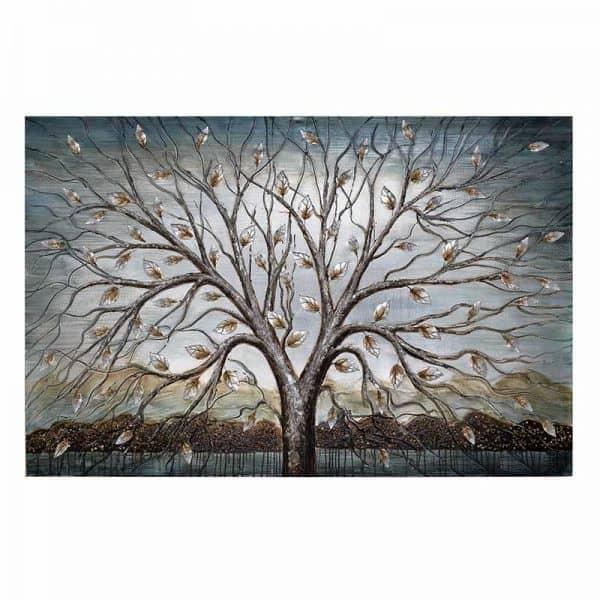 Inart Πίνακας Σε Καμβά Μπλε,Φυσικό μπεζ  MDF Καμβάς 150x2x100 cm