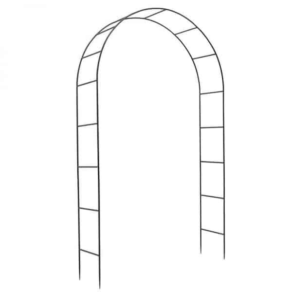 Inart Αψιδωτή Είσοδος Μαύρο Σίδερο 145x37x240 cm