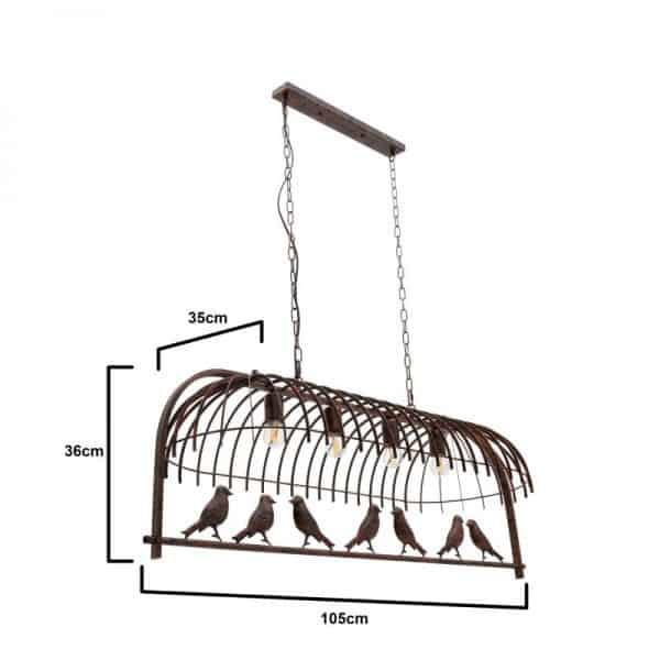 Inart Φωτιστικό Οροφής  Σίδερο 96x35x85 cm
