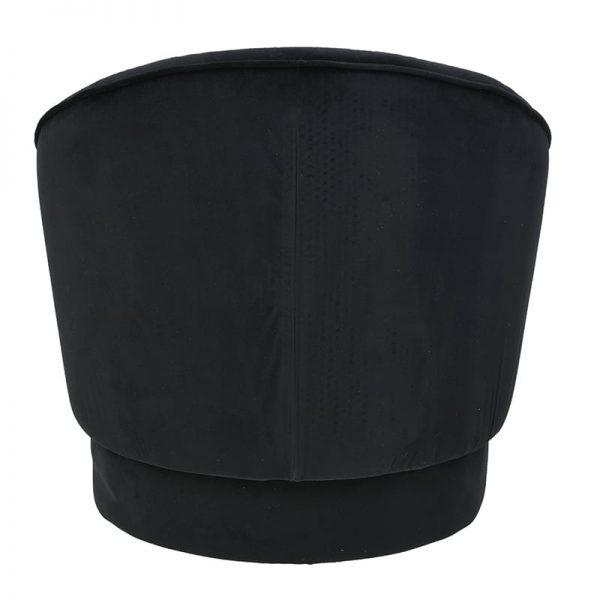 Inart Πολυθρόνα Μαύρο  Κόντρα πλακέ Συνθετικό / ΠΟΛΥΕΣΤΕΡ 76x68x73 cm