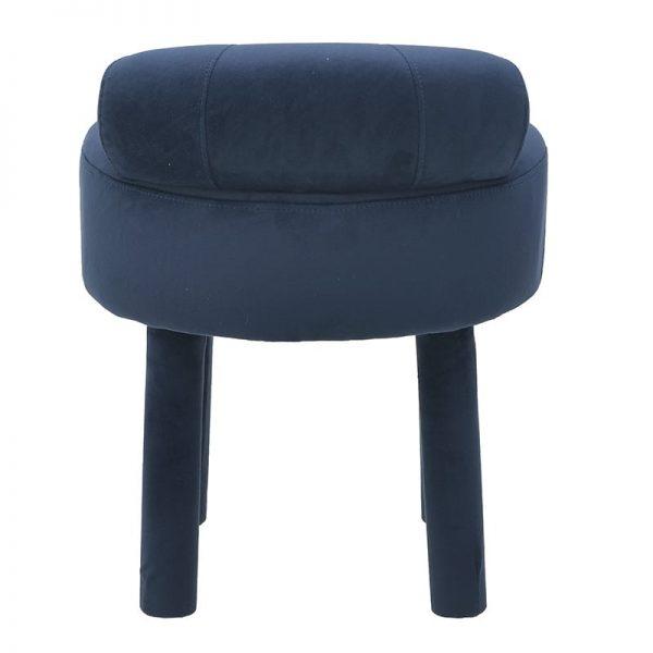 Inart Σκαμπό Μπλε  Κόντρα πλακέ,Birch Συνθετικό / ΠΟΛΥΕΣΤΕΡ 46x48x55 cm