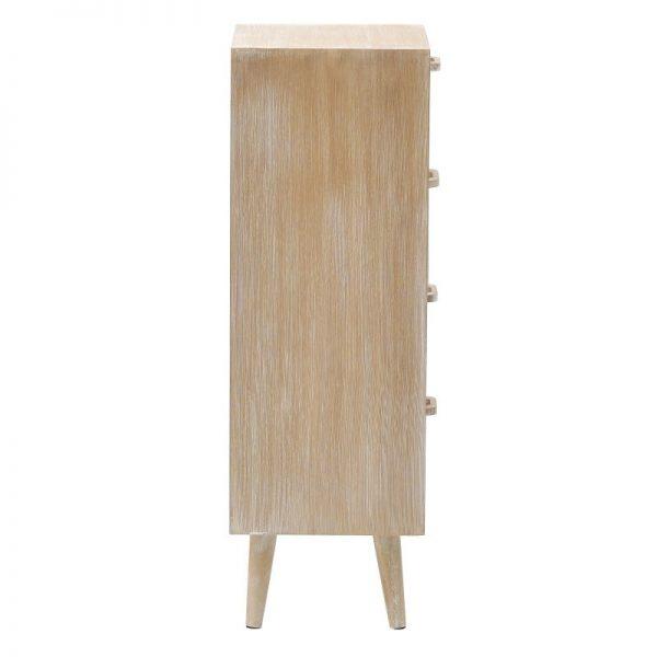 Inart Συρταριέρα Φυσικό μπεζ  Fir 38x30x90 cm