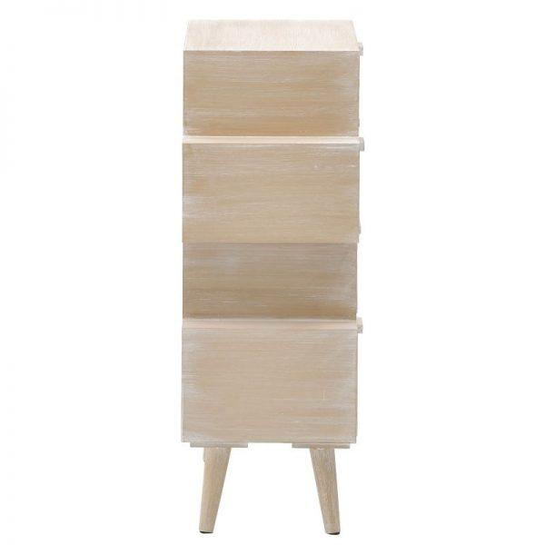 Inart Συρταριέρα Φυσικό μπεζ  Fir 60x30x83 cm
