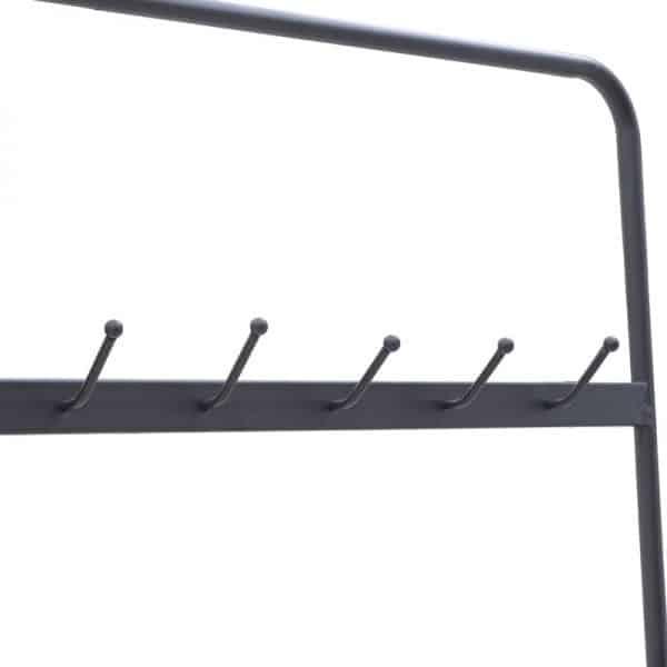 Inart Έπιπλο Εισόδου Μαύρο Σίδερο   Γυαλί 90x40x180 cm