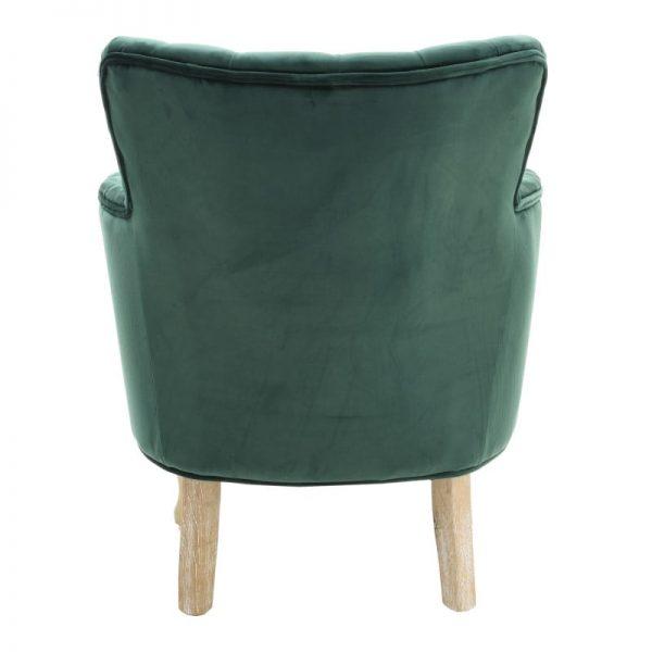 Inart Πολυθρόνα Βελούδινη Πράσινο 62x70x75 cm