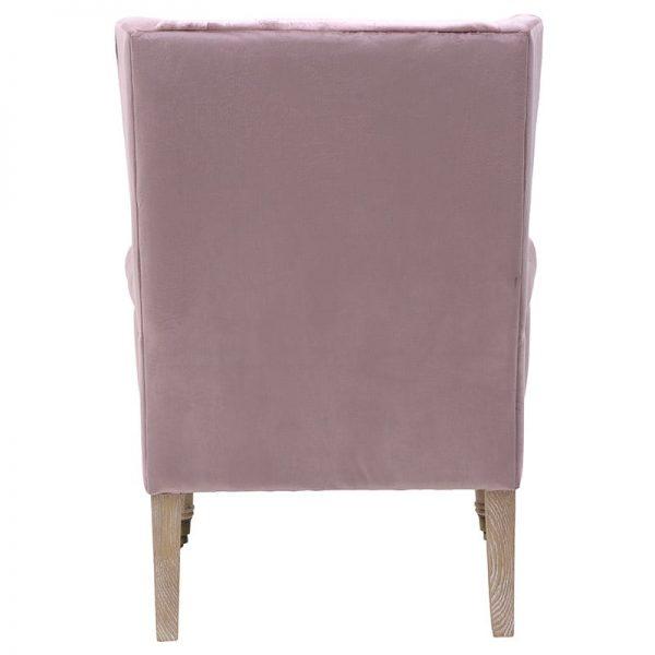 Inart Βελούδινη Πολυθρόνα Ροζ-Μωβ 76x80x103 cm