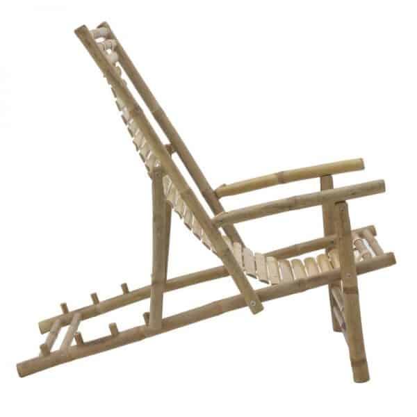 Inart Καρέκλα Μπαμπού Φυσικό μπεζ  Μπαμπού 118x60x74 cm