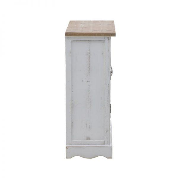 Inart Μπουφές Λευκό-Ελεφαντόδοντο,Φυσικό μπεζ  MDF,Fir 90x35x90 cm