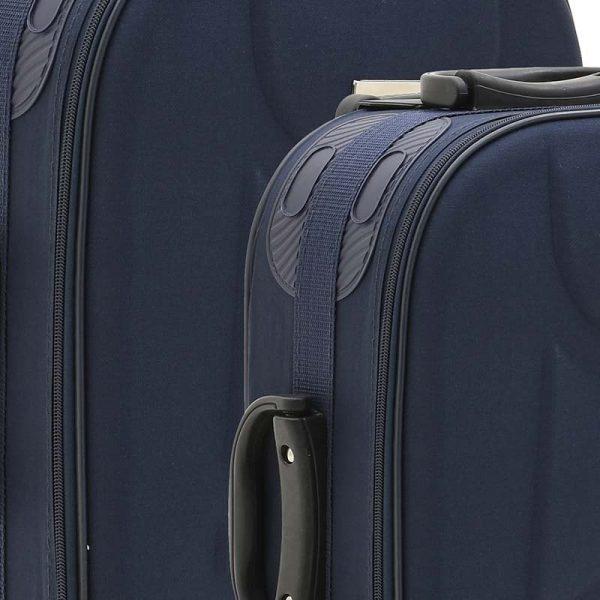 Inart Βαλίτσα Ταξιδιού Σετ Των 3 Μπλε Σίδερο  Συνθετικό / ΠΟΛΥΕΣΤΕΡ Πλαστικό