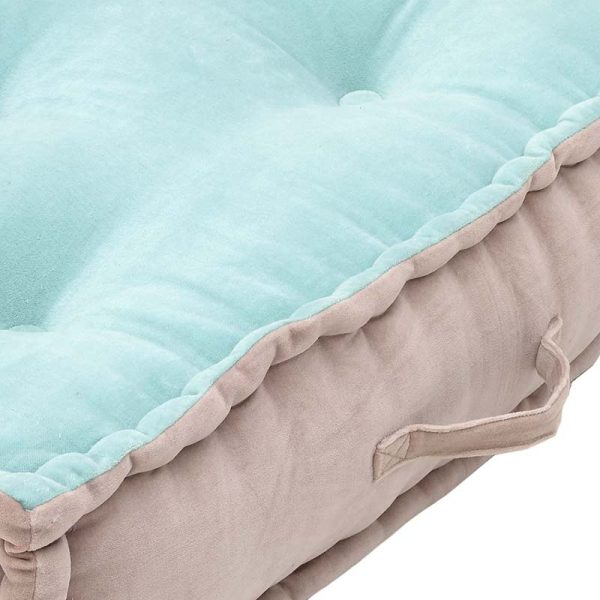Inart Υφασμάτινο Μαξιλάρι Ροζ-Μωβ,Μπλε 65x65x20 cm