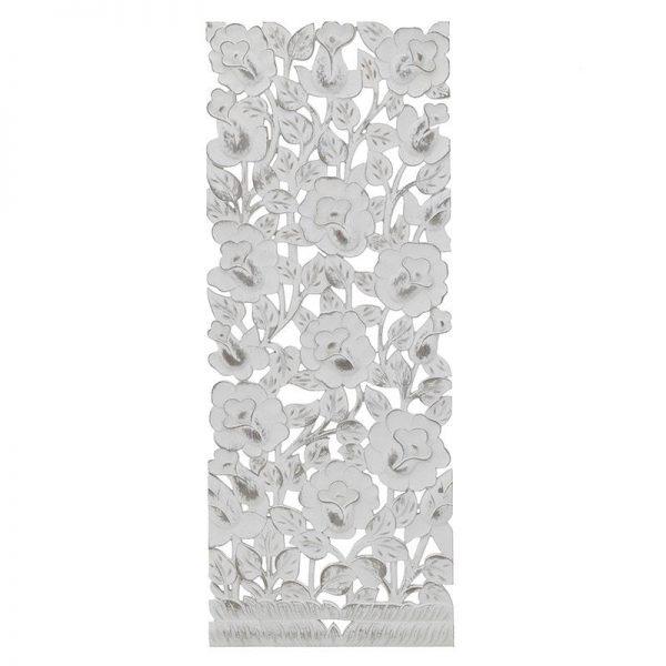 Inart Διακοσμητικό Τοίχου Λευκό-Ελεφαντόδοντο 35x2x90 cm