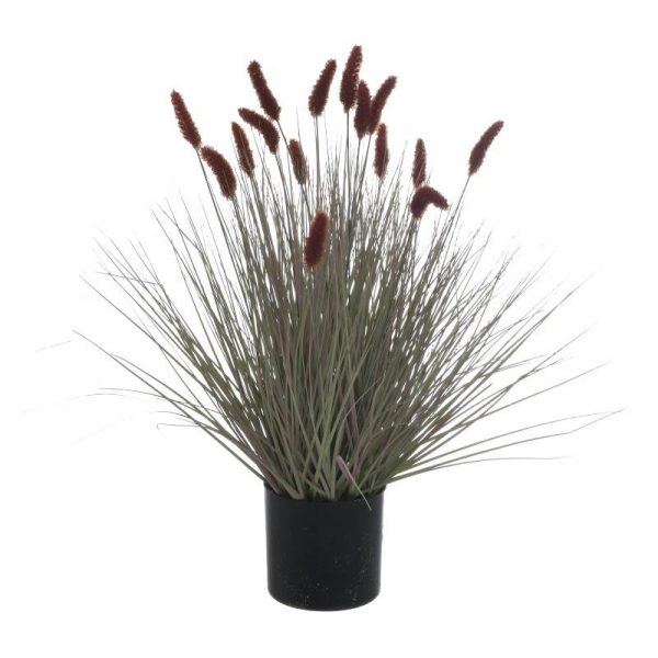 Inart Φυτό Σε Γλάστρα Πράσινο,Φυσικό μπεζ Σίδερο  Συνθετικό / ΠΟΛΥΕΣΤΕΡ Πλαστικό