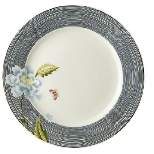Πιάτο Ρηχό Πορσελάνης Laura Ashley Heritage Midnight Pinstripe Uni 20cm