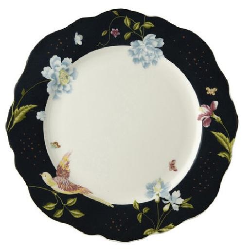 Πιάτο Ρηχό Πορσελάνης Laura Ashley Heritage Irregular Midnight Uni 24,5cm