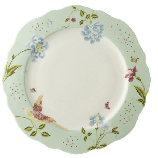 Πιάτο Ρηχό Πορσελάνης Laura Ashley Heritage Irregular Mint Uni 24,5cm