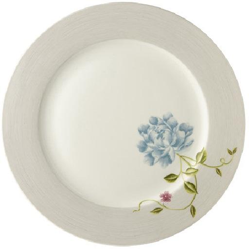 Πιάτο Φαγητού Πορσελάνης Laura Ashley Heritage Cobblestone Pinstripe Uni 26cm