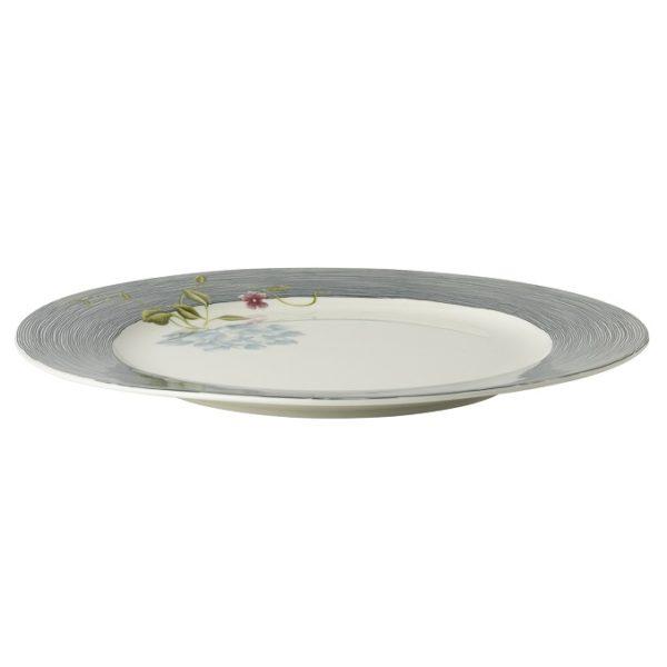 Πιάτο Φαγητού Πορσελάνης Laura Ashley Heritage Midnight Pinstripe Uni 26cm