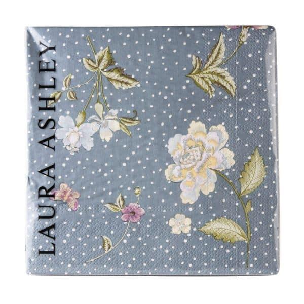 Χαρτοπετσέτες 20τμχ Laura Ashley Seaspray Uni 33x33cm