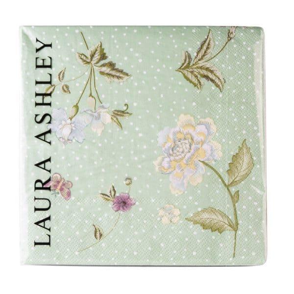 Χαρτοπετσέτες 20τμχ Laura Ashley Mint Uni 33x33cm