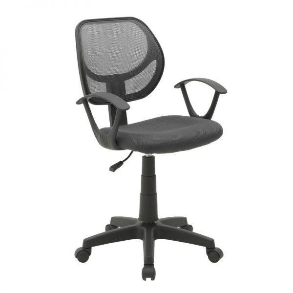 Inart Καρέκλα Γραφείου Μαύρο 56x56x95 cm