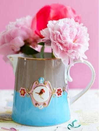 Γαλατιέρα Πορσελάνης Pip Studio Love Birds Medallion Blue-Khaki 270ml